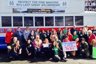 Bus for Progress at Sen Connors office