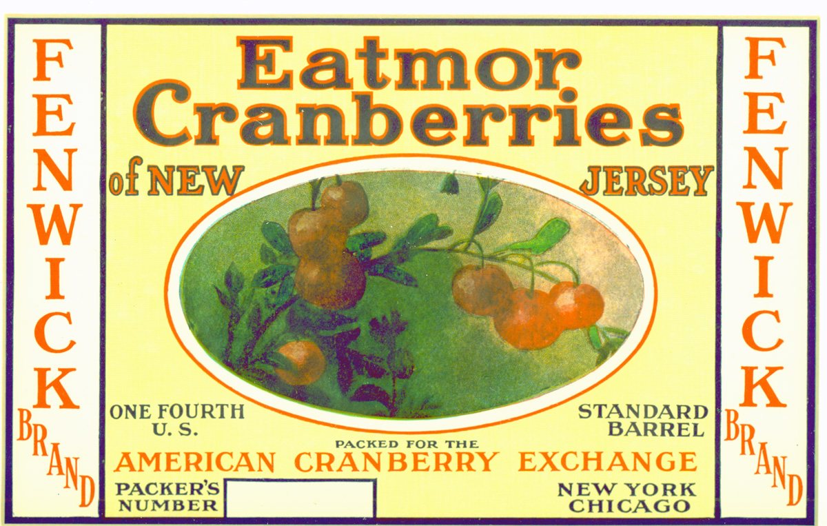 Cranberry Box Label Eatmor Brand