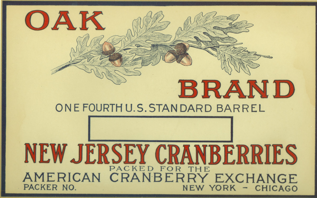 Cranberry Box Label Oak Brand