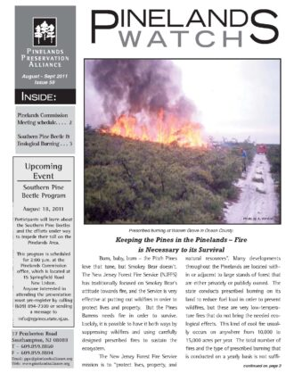 Front page Pinelands Watch 60