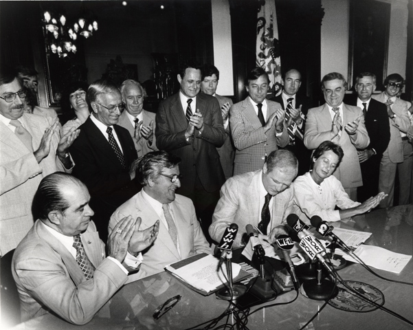 Governor Byrne signing Pinelands Protection Act