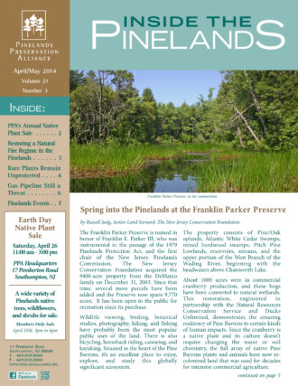 Inside the Pinelands, April - May 2014