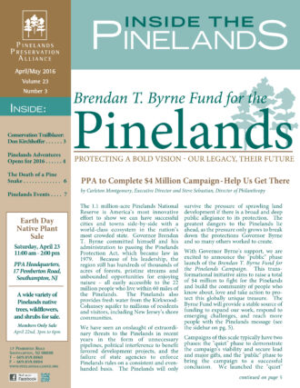 Inside the Pinelands April May 2016 Cover