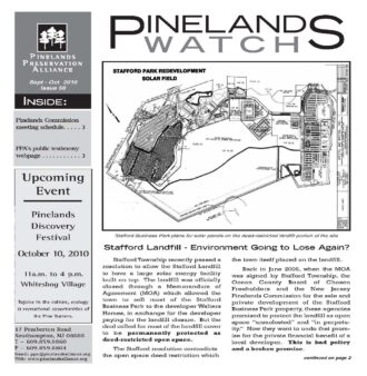 Pinelands Watch, 56 front page