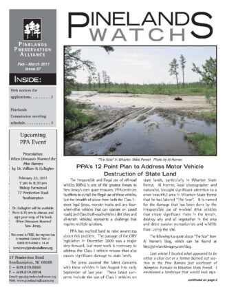 Pinelands Watch Front Page 57