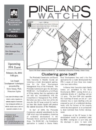 Pinelands Watch, Issue 63 front page