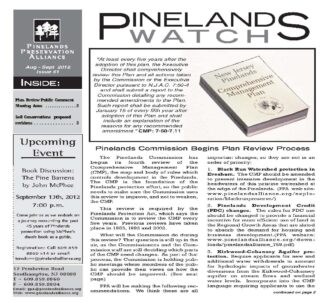 Pinelands WatchPW Newsletter Front page - PW #61