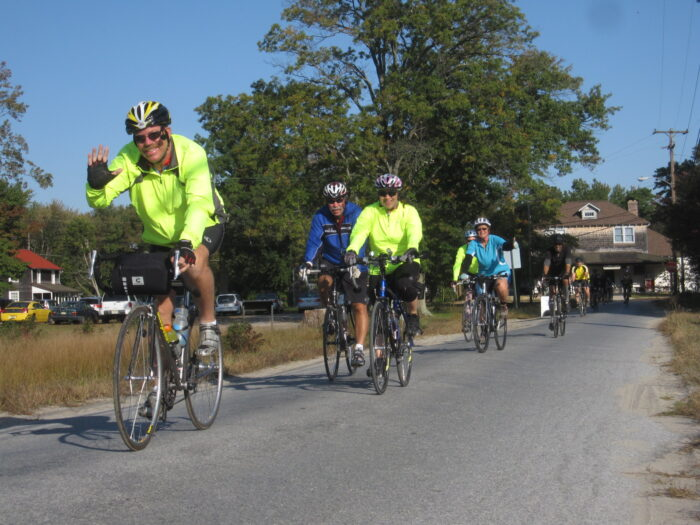 Tour de Pines heading out of Whitesbog thumb