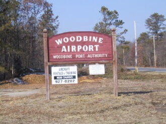 Woodbine Airport Sign