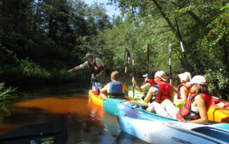 Pinelands Adventure's guide John Volpa provides a great guided tour experience on the Batsto River.