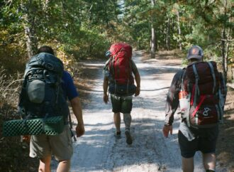 photo of hikers in the pine barrens