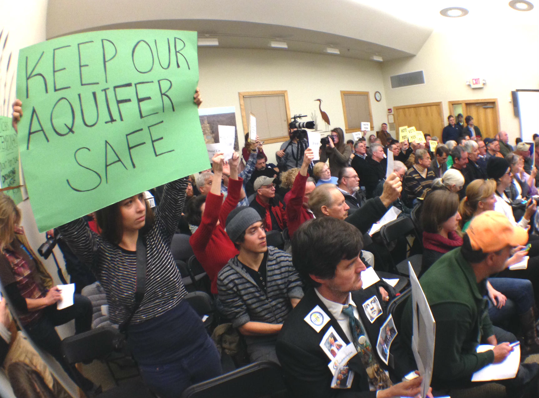 pipeline protest save the aquifer New jersey pinelands commission meeting