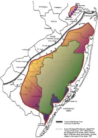 pine barrens and pinelands boundary map
