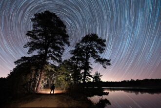 night sky and stars in the new jersey pinelands