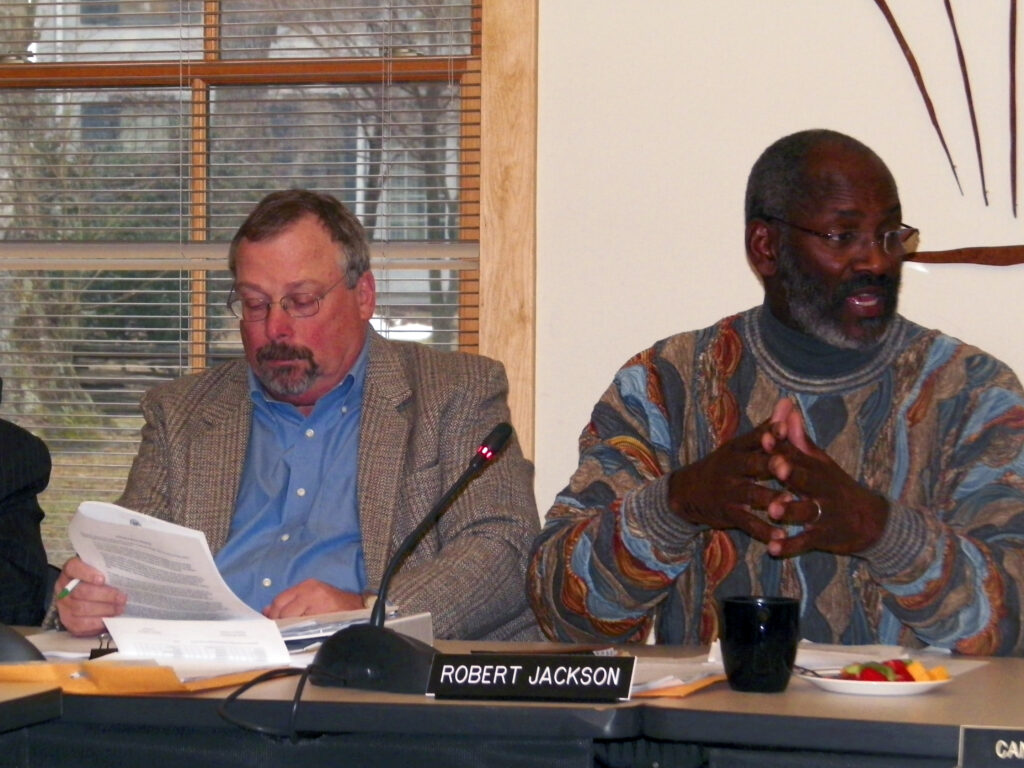Pinelands Commissioners Alan Avery and Robert Jackson in 2015. (left to right)