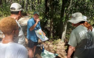guided hike in the pine barrens