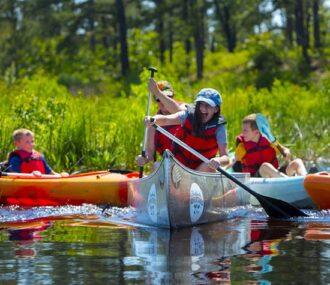 kids canoeing and kayaking new jersey pine barrens