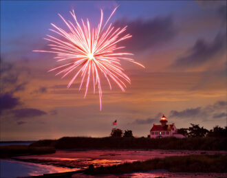 """East Point Lighthouse """"A New Beginning"""" by Dennis Abriola"""