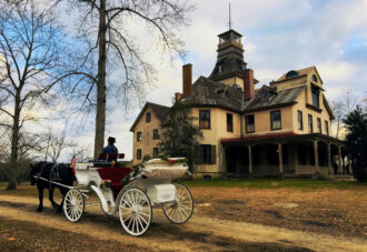Horse-drawn carriage ride at Batsto Mansion by Audrey Geddes