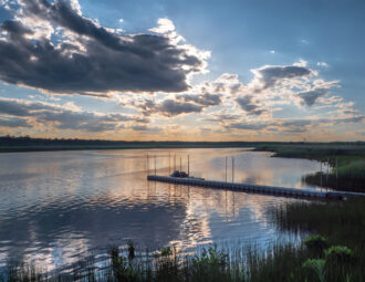 Sunset Over the Wading River by Laura Hawkins