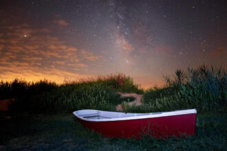 Lifeboat at East Point Lighthouse by Douglas Heusser