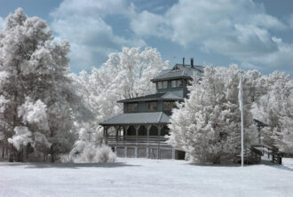 Wells Mills in Infrared by Neil Persh