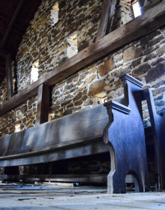 Abandoned Pew by Mary Rigby