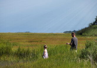 Crabbing with Dad by Kathleen Tezla