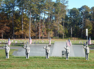 Stone Sentinels Stand Guard by P. David Veasey