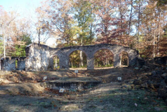 Glass Furnace Ruins at Estelle Manor by P. David Veasey