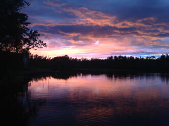 (Sunset over Lake) by CAnne Anderson
