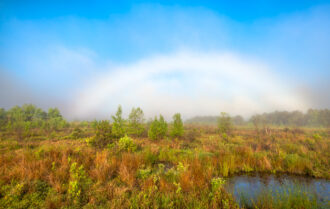 Fog Bow over Goodwater by Michael Neuhaus