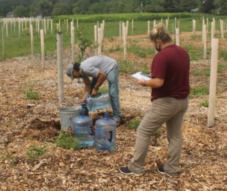 Water Infiltration test on the farm