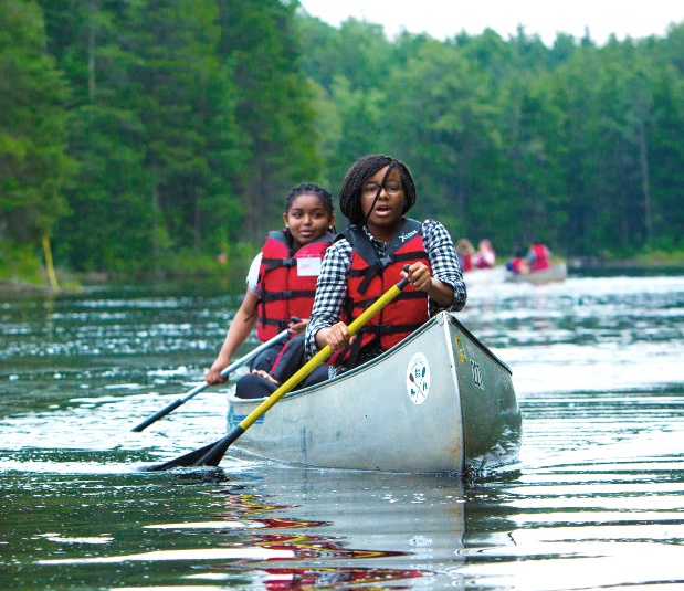 students canoeing in the new jersey pine barrens pakim pond brendan byrne state forest