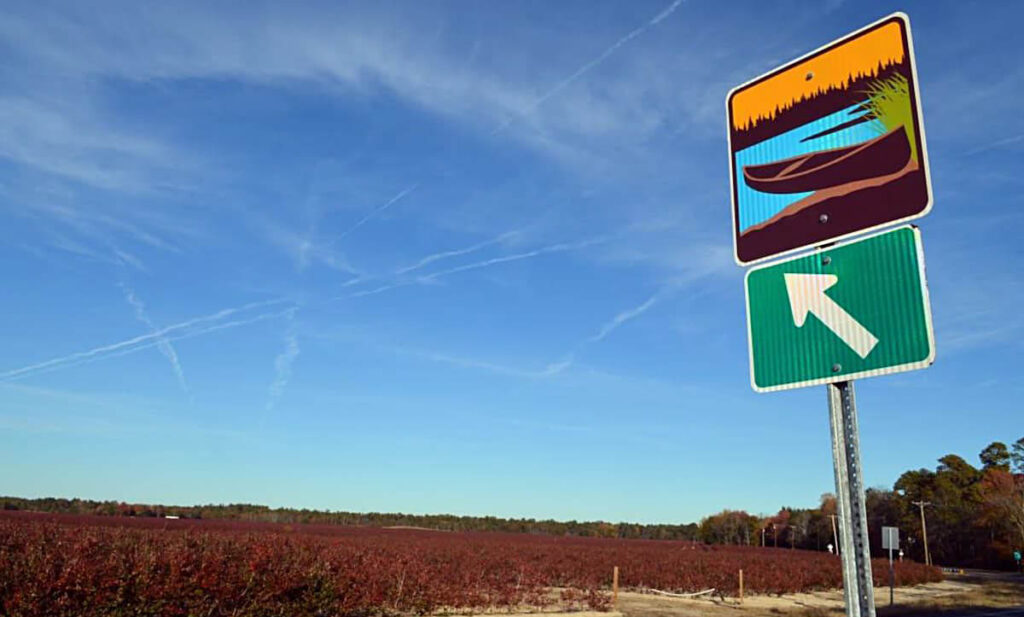 The Pine Barrens Byway sign. Source: NJ Pinelands Commission