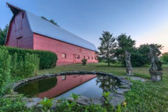 PPA barn outside with pond