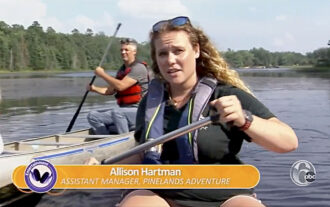 WPVI TV6 story about paddling in the pine barrens with pinelands adventures